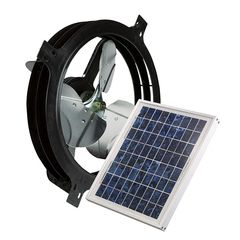 Air Vent Solar Powered Gable-Mount Attic Ventilator - 800 CFM