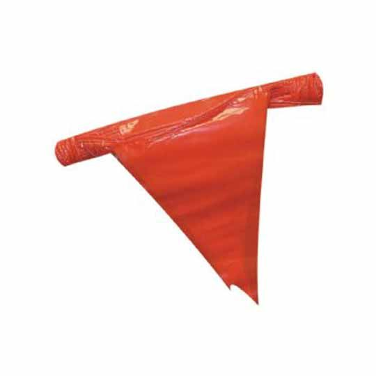 "C&R Manufacturing 12"" x 18"" Pennant Flags 105' Strand Red"