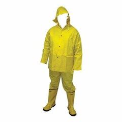 C&R Manufacturing Hi-Vis Water Proof 3-Piece Rain Suit - Size Large