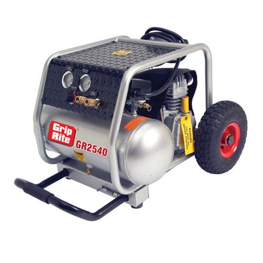 Grip-Rite 4 Gallon 2.5 HP 3,450 RPM Single Tank Compressor