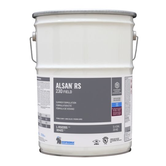 Soprema ALSAN® RS 230 Field - Summer Grade - 5.4 Gallon Pail Pebble Grey