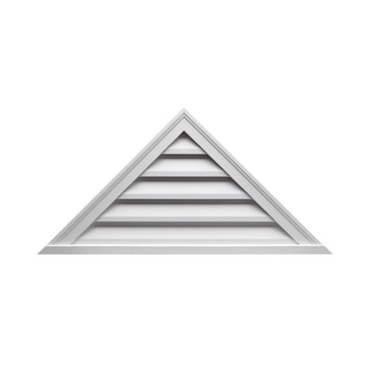 """Fypon Molded Millwork 64"""" x 27"""" Decorative Triangle Louver"""