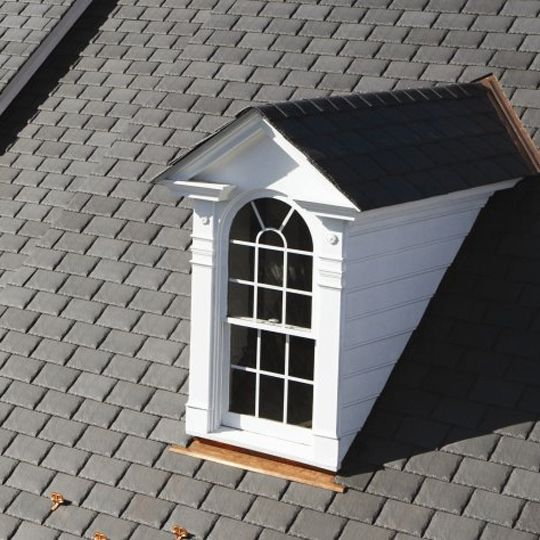 """CertainTeed Roofing 9"""" Symphony® Slate Shingles Colonial Grey"""