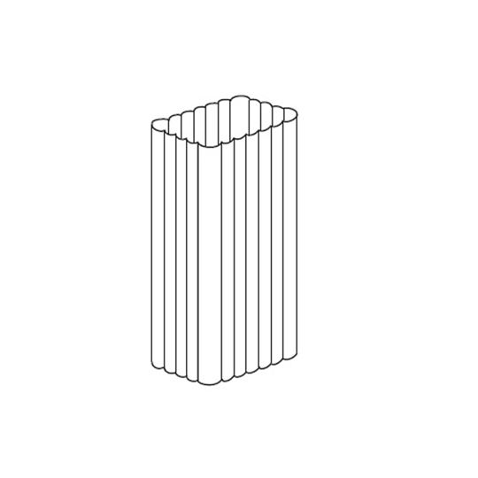 "Mastic 2"" x 3"" Rectangular Corrugated Downspout White"