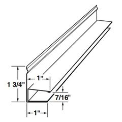"Mastic 1/2"" Aluminum F-Channel with 1"" Face"
