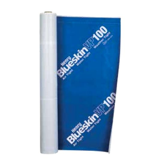 "Henry Company 48"" x 100' Blueskin® VP100 Self-Adhered Water Resistive Air Barrier Membrane Blue"