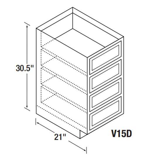 Kitchen Kompact V15D Bretwood Vanity Cabinet