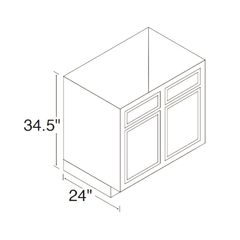 Kitchen Kompact 30RBS Chadwood Range & Sink Base Cabinet