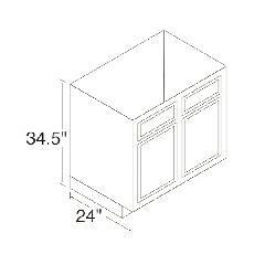 Kitchen Kompact 36RBS Chadwood Range & Sink Base Cabinet