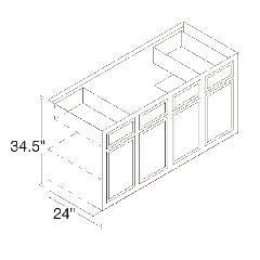 Kitchen Kompact 60SB Chadwood Sink Base Cabinet