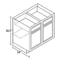 Kitchen Kompact 30B Glenwood Beech Base Cabinet