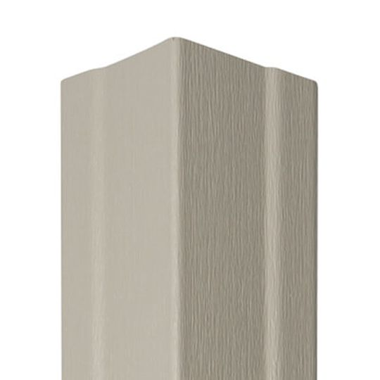 "Mastic 4"" x 3/4"" x 10' Universal Outside Corner Post - Woodgrain Finish Victorian Grey"