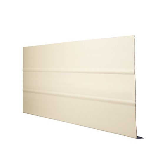 "Quality Edge .024"" x 8"" x 7/8"" x 12' TruLine® HP-Series Extra Strength Aluminum Ribbed Fascia White (280)"