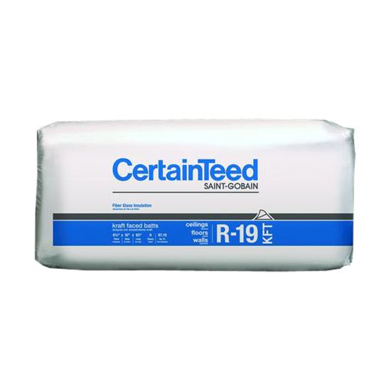 "Certainteed - Insulation 6-1/4"" x 23"" x 39' 2"" Sustainable R-19 Perforated 94"" Kraft Faced Roll - 75.07 Sq. Ft."