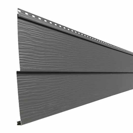 "Mastic Envoy Horizon Collection Double 5"" Aluminum Siding Charcoal Grey"