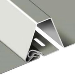 "Atas Metals 16"" x 1-1/4"" Smooth Eco-Seam Panel"