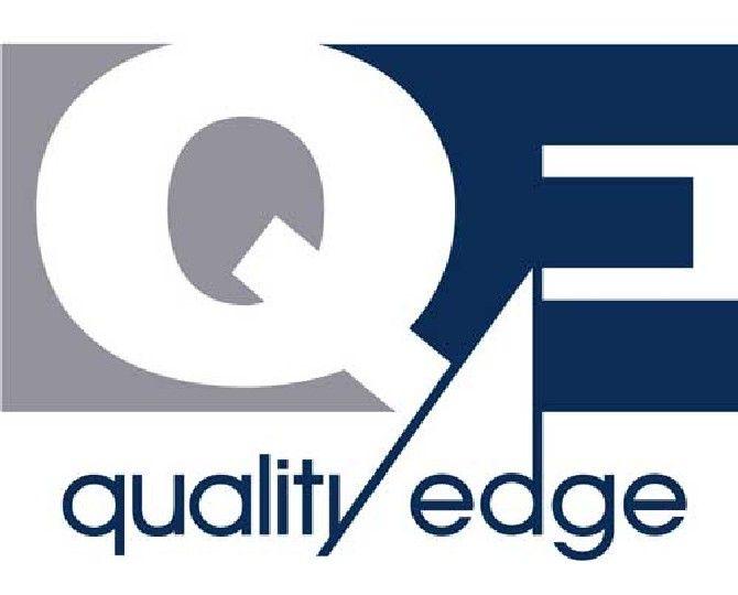 "Quality Edge 28 Gauge x 1-1/2"" x 10' TruEdge Steel T-Style Drip Edge with Extended Leg Snowmist"