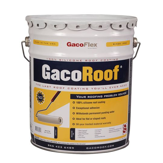 Gaco Western GacoRoof® Silicone Roof Coating - 5 Gallon Pail Green