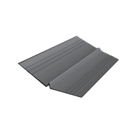"Quality Edge 26 Gauge x 20"" x 10' TruValley Steel W-Valley Dark Grey"