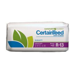"Certainteed - Insulation 3-1/2"" x 15-1/4"" x 93"" Sustainable R-13 Unfaced..."