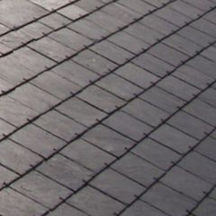 "SSQ International 18"" x 9"" Del Carmen Grey Roofing Slate"