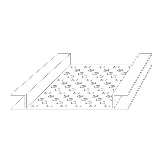 "Tamlyn 5/16"" x 4"" x 8' Snapvent Continuous Soffit Vent"