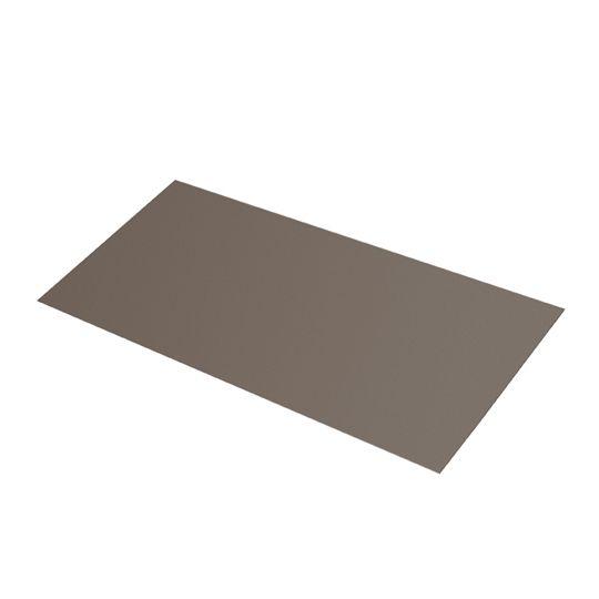 "Quality Edge 28 Gauge x 8"" x 8"" Steel Flat Step Flashing - Bundle of 100 Black"