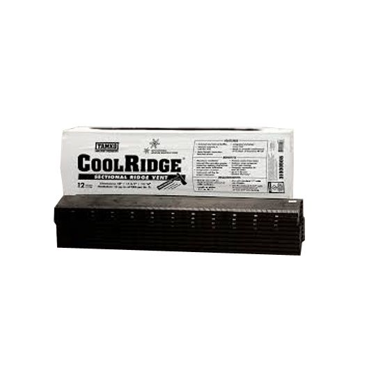 TAMKO 4' CoolRidge Sectional Ridge Vent with Internal Filter & Nails Black