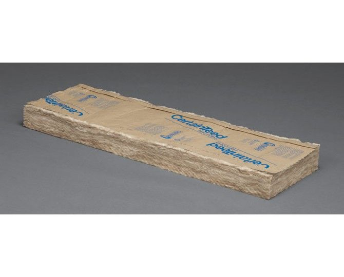 "Certainteed - Insulation 6-1/4"" x 15"" x 93"" Sustainable R-19 Kraft Faced Batts - 87.19 Sq. Ft. per Bag"