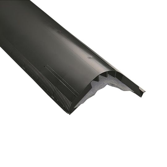 "CertainTeed Roofing 12"" x 4' Filtered Ridge Vent with Nails Black"