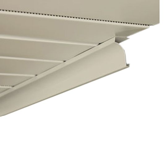 "Quality Edge .019"" x 10' Aluminum Cove Soffit Receiver White (280)"