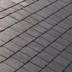 "SSQ International 20"" x 12"" Del Carmen Seca Black Roofing Slate"