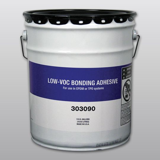 Carlisle Syntec X-24 Low-VOC Bonding Adhesive B-Style 5 Gallon Pail Yellow