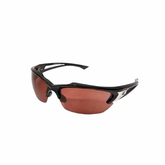 C&R Manufacturing Khor Safety Glasses Black Frame/Aqua-Fire Mirror Lens