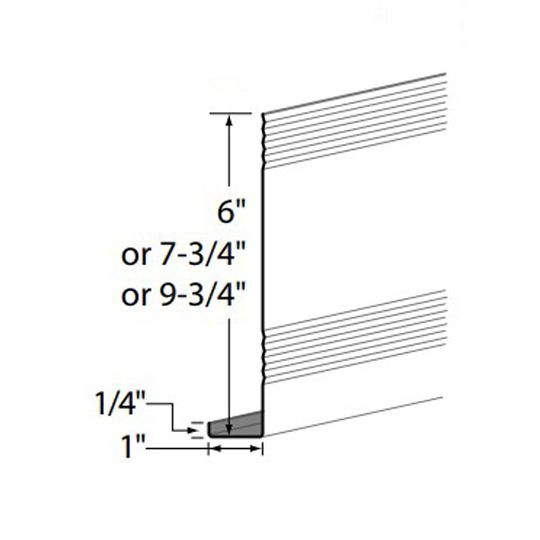 "Edco Products 8"" Steel Fascia Cover Woodgrain - Enamel Finish Sandtone"