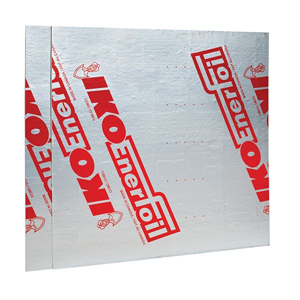 "IKO 1"" x 4' x 8' Enerfoil® Polyisocyanurate Insulation Sheathing"
