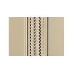 "Quality Edge 12"" x 12' TruLine® HP-Series Aluminum Center Vented Soffit"