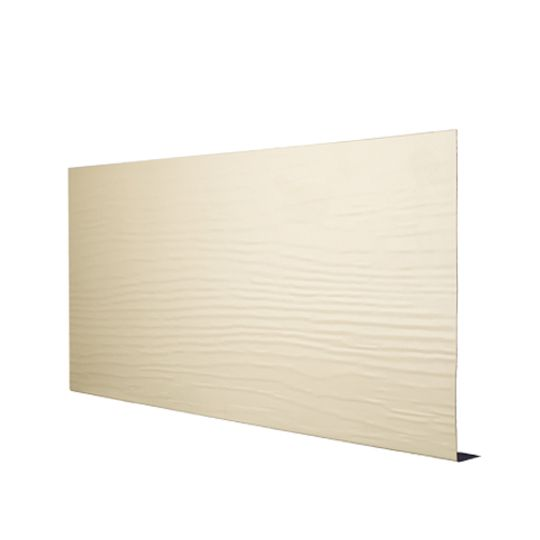 "Quality Edge .019"" x 6"" x 12' TruLine® TS-Series Aluminum Woodgrain Fascia White (280)"