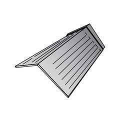 "Metro Roof Products 6"" x 6"" x 12"" Cottage Shingle Trim Cap"