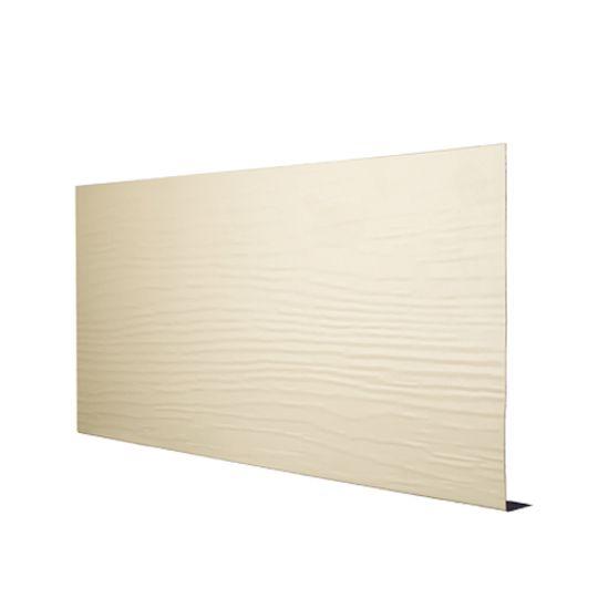 "Quality Edge .019"" x 8"" x 12' TruLine® TS-Series Aluminum Woodgrain Fascia White (280)"