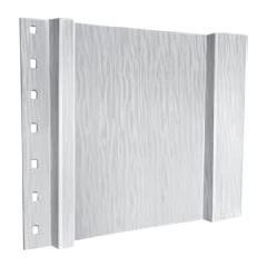 """Quality Edge 10"""" x 10' TruCedar® Classic PVC Board & Batten Steel..."""
