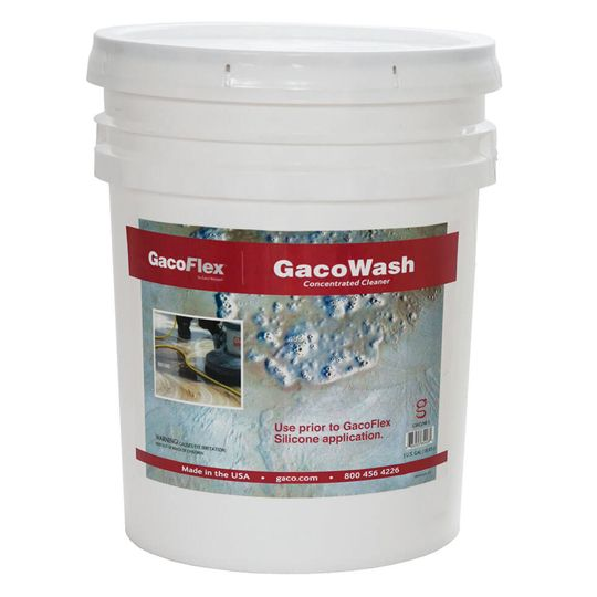 Gaco Western GacoFlex® GacoWash Concentrated Cleaner - 5 Gallon Pail Clear Yellow/Amber