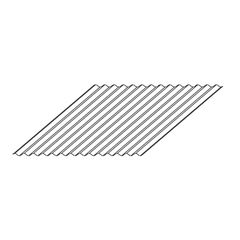 "Metal Sales 26 Gauge x 2-1/2"" x 36"" G-90 Corrugated Steel Panel"