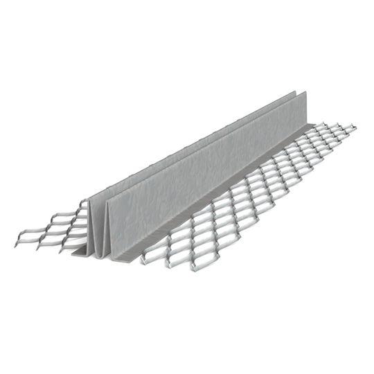 "Clark Dietrich Building Systems 3/8"" x 10' #15 Zinc Double-V Expanded Flange Control Joint"