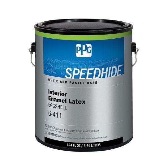 (6-411) Speedhide® Interior Enamel Latex Eggshell with White & Pastel Base - 5 Gallon Pail