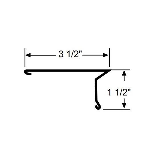 Quality Edge 1-1/2 x 3-1/2 Large Drip Edge Brown