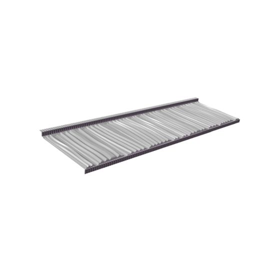 """Tilcor Roofing Systems 49-9/16"""" x 14-1/2"""" Craftsman Shake Tile - Textured Finish Black Iron"""