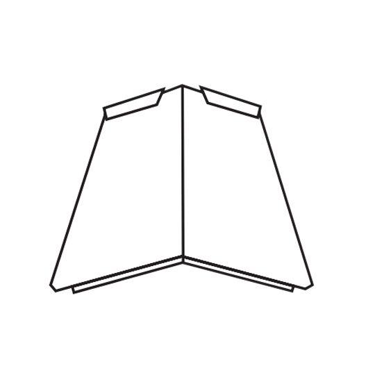 TAMKO MetalWorks® Tapered Hip Cap - Carton of 50 Sierra Slate Grey
