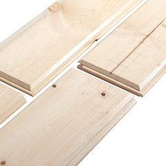 """Woodtone 1"""" x 8"""" x 16' RealSoffit™ Ship Lapped Resawn Prime V-Groove"""