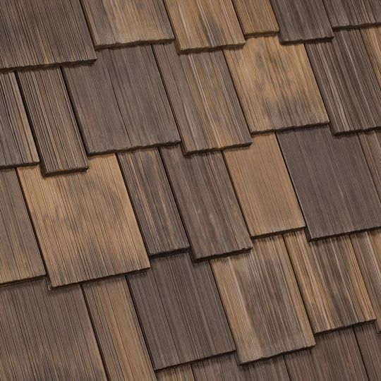 "Davinci Roofscapes 4"" to 9"" Multi-Width Shake Tahoe Blend"
